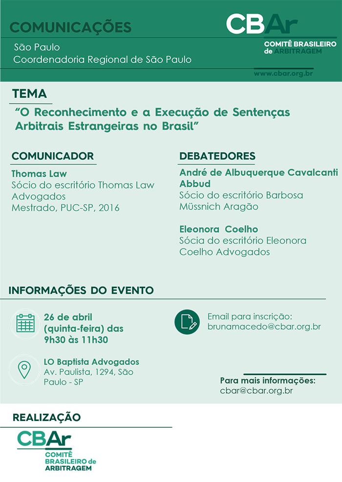 O Reconhecimento e a Execução de Sentenças Arbitrais Estrangeiras no Brasil