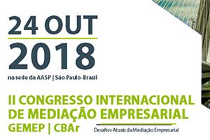 II Congresso Internacional de Mediação Empresarial GEMEP | CBAr