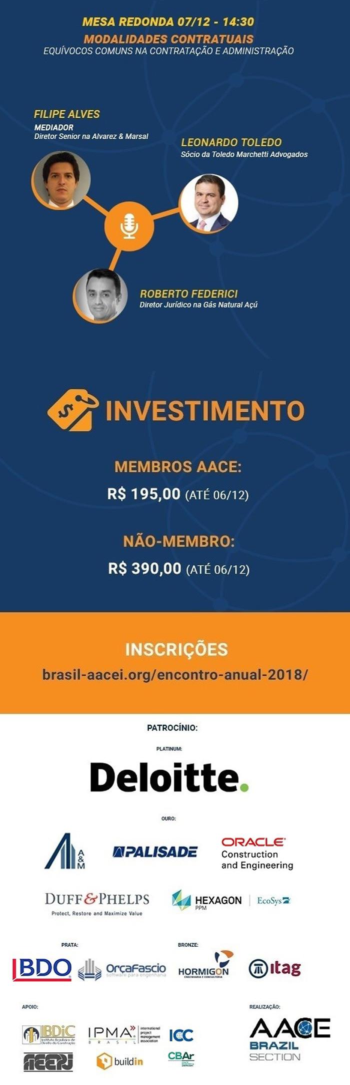 VI Encontro Anual da Associação para Desenvolvimento da Engenharia de Custos (AACE Brasil)