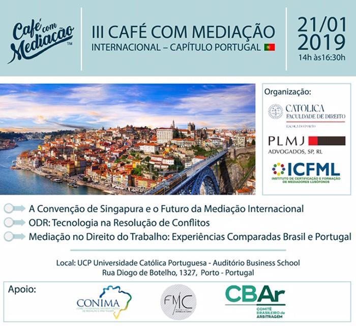 III Café com Mediação Internacional - Capítulo Portugal