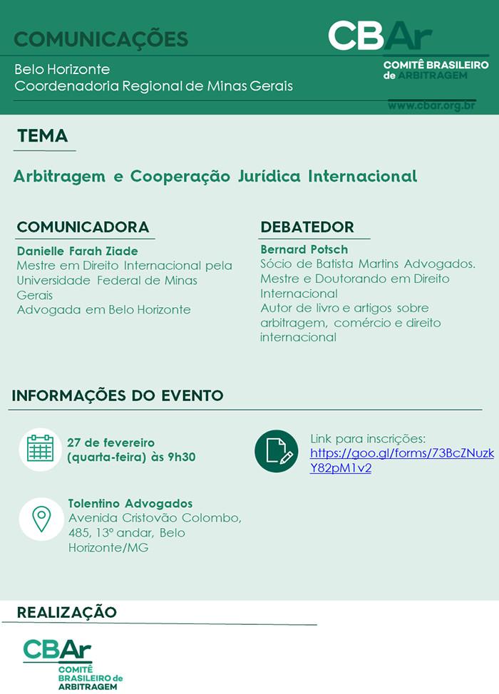 Arbitragem e Cooperação Jurídica Internacional