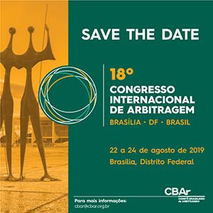 Save The Date 18º Congresso CBAr 2019