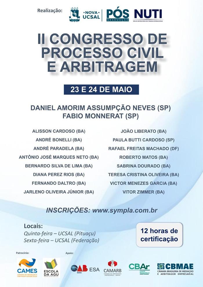II Congresso Processo Civil e Arbitragem