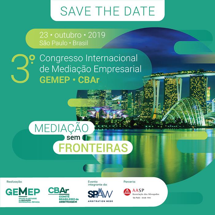 III Congresso Internacional de Mediação Empresarial GEMEP CBAr