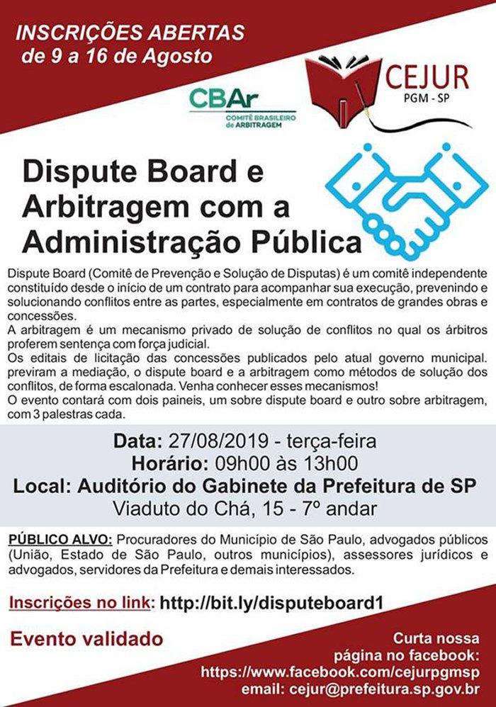 Dispute Board e Arbitragem com a Administração Pública
