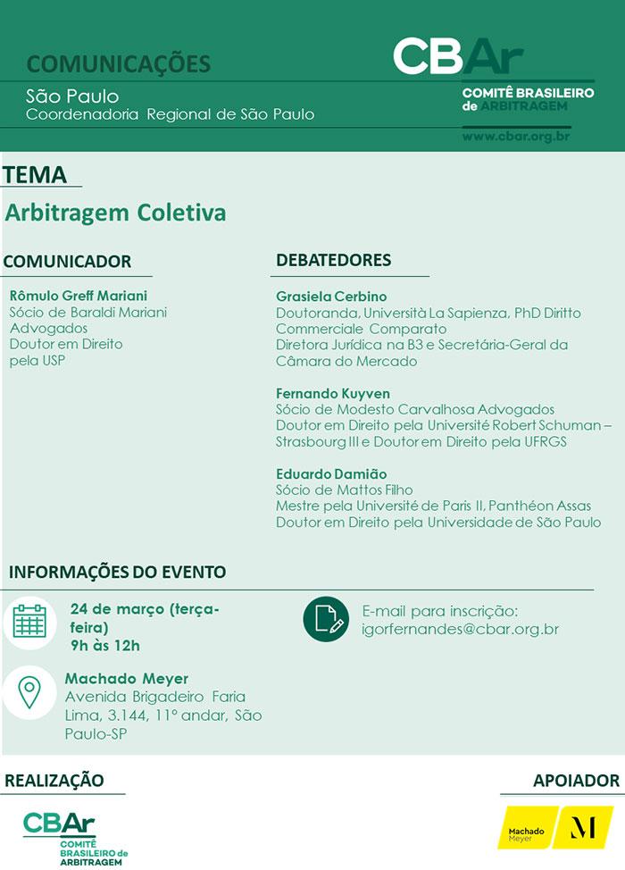 Comunicação São Paulo: Arbitragem Coletiva